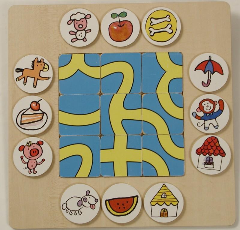 小班迷宫图片; 中班幼儿迷宫图潜能开发3-4岁:迷宫2